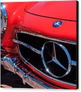 1955 Mercedes-benz 300sl Gullwing Grille Emblems Canvas Print by Jill Reger