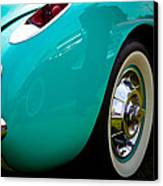 1956 Baby Blue Chevy Corvette Canvas Print by David Patterson