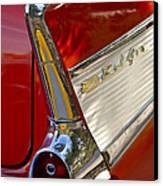1957 Chevrolet Belair Taillight Canvas Print by Jill Reger