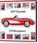 1957 Chevrolet Corvette Art Canvas Print by Jill Reger