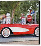 1957 Chevy Corvette Canvas Print by Robert Jensen