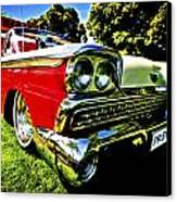 1959 Ford Fairlane 500 Skyliner Canvas Print by motography aka Phil Clark
