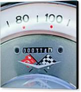 1960 Chevrolet Corvette Speedometer Canvas Print by Jill Reger