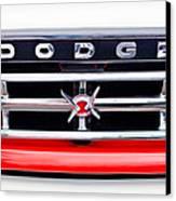 1960 Dodge Truck Grille Emblem Canvas Print by Jill Reger