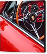 1964 Porsche 356 Carrera 2 Steering Wheel Canvas Print by Jill Reger