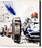 1965 Grand Prix De Paris Canvas Print by Georgia Fowler