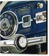 1965 Volkswagen Vw Beetle Steering Wheel Canvas Print by Jill Reger