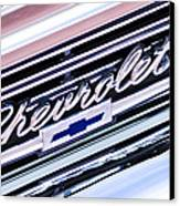 1966 Chevrolet Biscayne Front Grille Canvas Print by Jill Reger