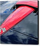 1966 Chevrolet Corvette Hood Emblem Canvas Print by Jill Reger