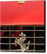 1966 Ferrari 330 Gtc Coupe Hood Ornament Canvas Print by Jill Reger