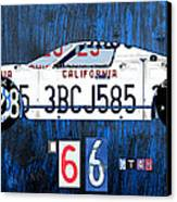 1966 Ford Gt40 License Plate Art By Design Turnpike Canvas Print by Design Turnpike