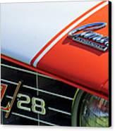 1969 Chevrolet Camaro Z-28 Emblem Canvas Print by Jill Reger