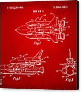 1975 Space Shuttle Patent - Red Canvas Print by Nikki Marie Smith