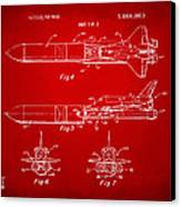 1975 Space Vehicle Patent - Red Canvas Print by Nikki Marie Smith