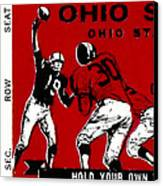 1979 Ohio State Vs Wisconsin Football Ticket Canvas Print by David Patterson