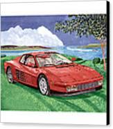 1987 Ferrari Testarosa Canvas Print by Jack Pumphrey