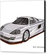 1991 Mercedes Benz C 112 Concept Canvas Print by Jack Pumphrey