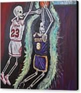 1997 Kobe Vs Jordan Canvas Print by Visual  Renegade Art
