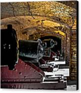 19th Century Cannon Line Canvas Print by Optical Playground By MP Ray