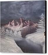 1st Painting 2-27-1991 Canvas Print by Rhonda Lee