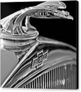 1931 Chevrolet Hood Ornament Canvas Print by Jill Reger