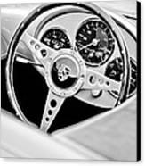 1955 Porsche Spyder Replica Steering Wheel Emblem Canvas Print by Jill Reger