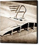 1957 Austin Cambrian 4 Door Saloon Hood Ornament Canvas Print by Jill Reger