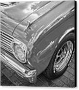 1963 Ford Falcon Sprint Convertible Bw  Canvas Print by Rich Franco