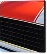 96 Inch Panoramic -1969 Chevrolet Camaro Rs-ss Indy Pace Car Replica Grille - Hood Emblems Canvas Print by Jill Reger