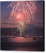 2014 4th Of July Firework Celebration.  Canvas Print by Jason  Choy