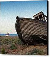 Abandoned Fishing Boat Digital Painting Canvas Print by Matthew Gibson