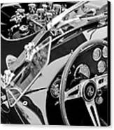 Ac Shelby Cobra Engine - Steering Wheel Canvas Print by Jill Reger