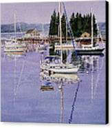 Boothbay Harbor Canvas Print by Karol Wyckoff
