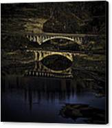 2 Bridges At Dusk Canvas Print by Dale Stillman