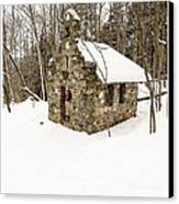 Chapel In The Woods Stowe Vermont Canvas Print by Edward Fielding