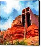 Chapel Of The Holy Cross Sedona Arizona Red Rocks Canvas Print by Amy Cicconi