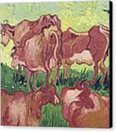 Cows Canvas Print by Vincent Van Gogh