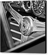 Ferrari Steering Wheel Canvas Print by Jill Reger