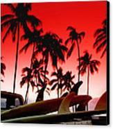 Fins N' Palms Canvas Print by Sean Davey