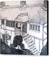 Garden Cottage Canvas Print by Diane Fine