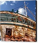 Greek Fishing Boat Canvas Print by Stelios Kleanthous