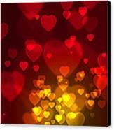 Hearts Background Canvas Print by Carlos Caetano