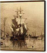 Historic Seaport Schooner Canvas Print by John Stephens