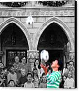 Juggler In Epcot Center Canvas Print by Jim Hughes