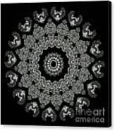 Kaleidoscope Ernst Haeckl Sea Life Series Black And White Set 2 Canvas Print by Amy Cicconi