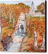 L'autunno Della Vita Canvas Print by Loredana Messina