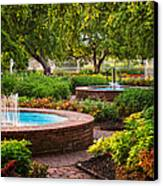 Morning Garden Canvas Print by Jeff Sinon