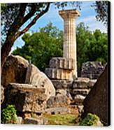 Olympia Ruins Canvas Print by Brian Jannsen