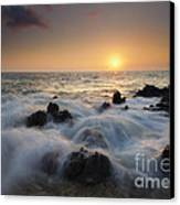 Over The Rocks Canvas Print by Mike  Dawson