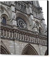 Paris France - Notre Dame De Paris - 01138 Canvas Print by DC Photographer